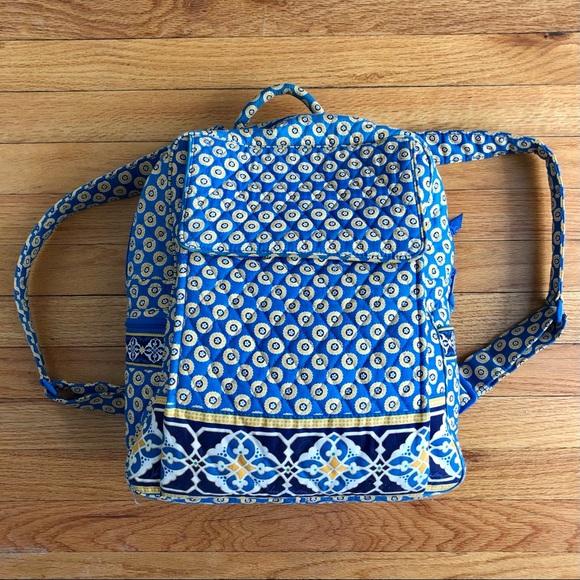 Vera Bradley yellow + blue backpack